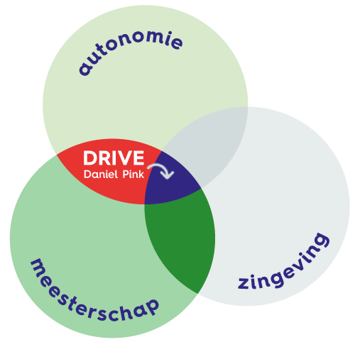 Daniel Pink Drive model met autonomie meesterschap en zingeving