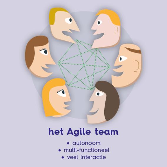 een agile team bij de overheid, meestal een scrumteam