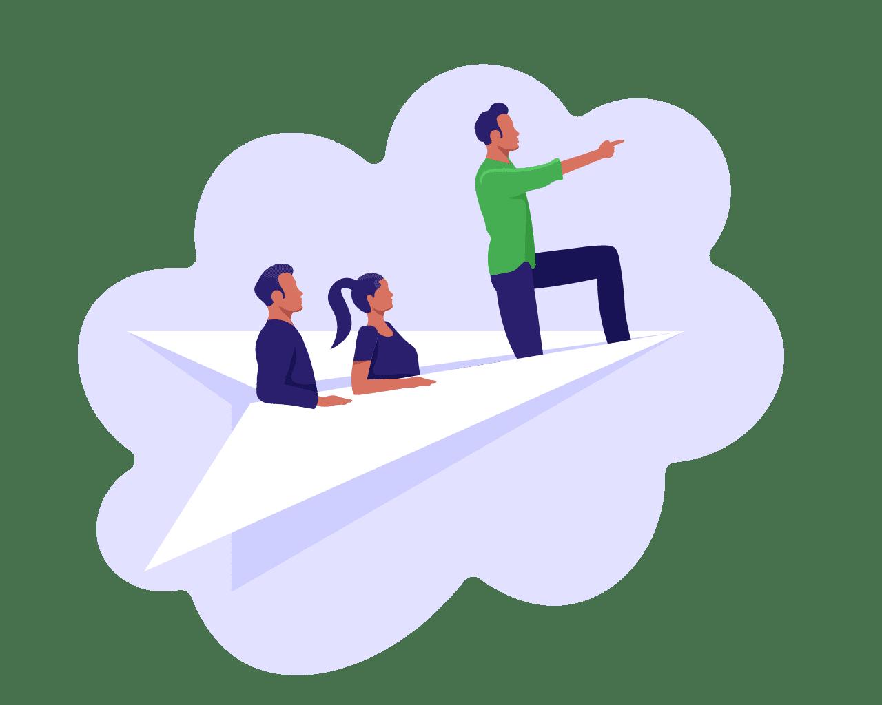 scrum values illustratie waarden